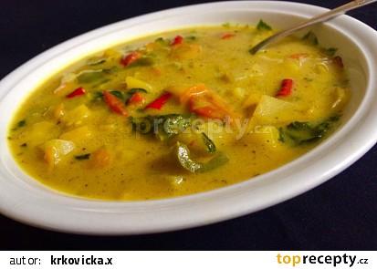 Pikantní zeleninová polévka na másle s kurkumou