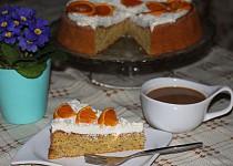 Pomerančový koláč s oříšky