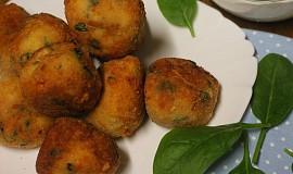 Šunkové kuličky s mozzarellou a špenátem