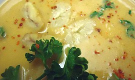 Kaštanová polévka se zázvorem a chilli