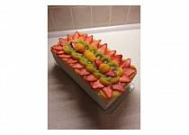 Ovocný dort s tvarohovo-pudinkovým krémem