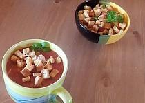 "Rajčatová polévka  ,,minestrone"" s krutony"