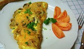 Rychlá vaječná omeleta se žampiony