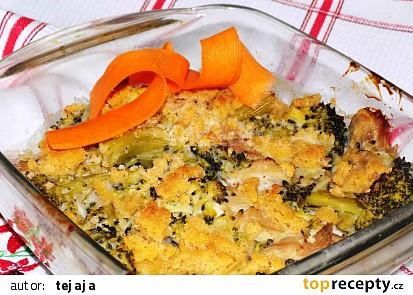 Zadělávané kuře se zeleninou