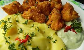Květák pečený v sýrové strouhance