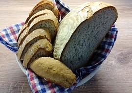 Jednoduchý, rychlý chléb, kynutý v ošatce