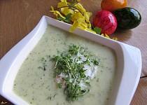 Krémová polévka z řeřichy