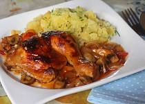 Kuře pečené v BBQ omáčce