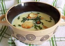 Petrželová polévka s petrželovými lupínky
