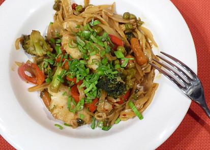 Rybí filé s pikantní zeleninou