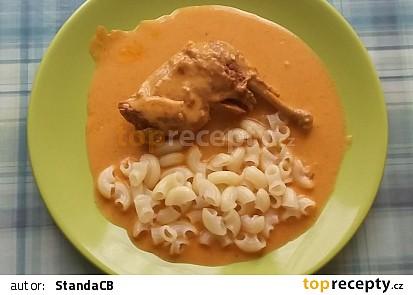 Kuře na paprice v tlakovém hrnci