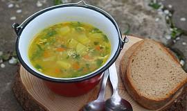 Polévka s pohankou a kopřivami