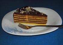Pruhovaný dort, postupně pečený