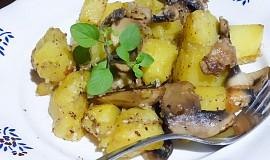 Sezamové brambory se žampiony