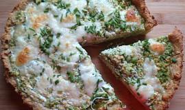 Bramborový koláč s brokolicí a šmakounem