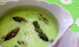 Chřestová polévka s hráškem