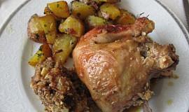 Kuře plněné kešu nádivkou