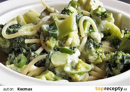 Špagety s brokolicí a nivou