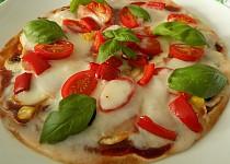 """Blesková tortillová """"pizza"""""""