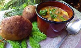 Gulášová polévka s lesními houbami