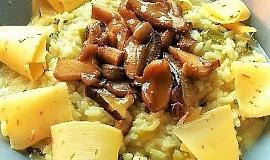 Krémové rizoto s hříbky