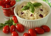 Mozzarellová pomazánka s bazalkou