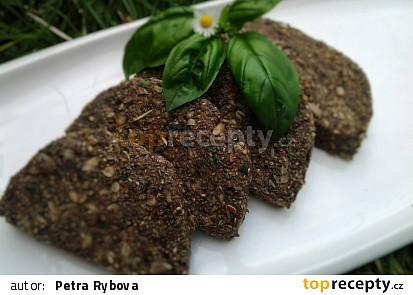 RAW bazalkový chléb s chia semínky