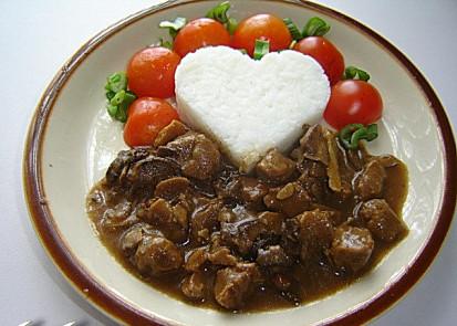 Vepřové a sójové kostky na houbách