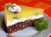 Vločkovo-tvarohový dort