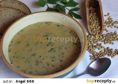 Babiččina čočková polévka s mlékem