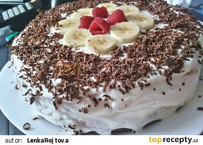 Banánový dort s tvarohem