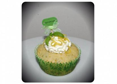 Bazalkovo citrónové muffiny / cupcaky