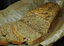 Bezlepkový kmínový chleba se lněným semínkem