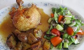 Kuře plněné kořenovou zeleninou
