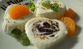 Mražený tvarohový krém s jogurtem a čokoládou