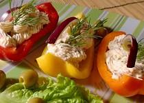 Paprikové lodičky s voňavou náplní