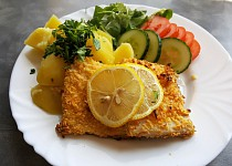 Řízky z rybího filé pečené v troubě bez smažení