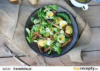Bramborový salát s vejci a hlívou