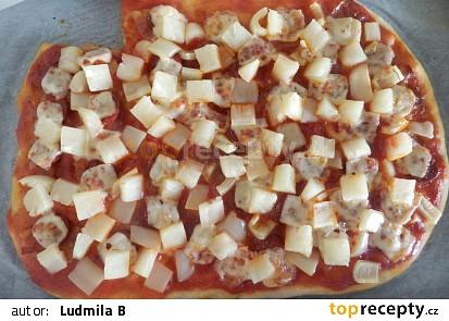 Domácí luxusní pizza