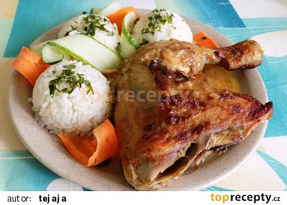 Pikantní pečená kuřecí stehna