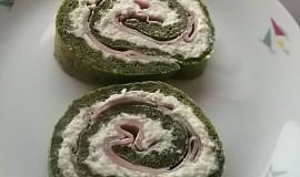 Špenátová roláda se sýry a šunkou
