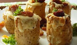 Bramborové soudky se sýrem a slaninou