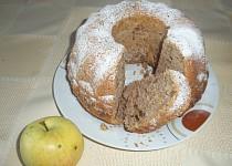 Jablečná bábovka (řezy) bez skořice