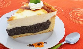 Makovo-smetanový dort