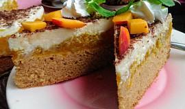 Svěží dort s jablečno - nektarinkovou směsí