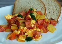 Lečo se smaženými vejci