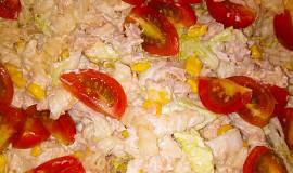 Těstovinový salát s tuňákem a zálivkou