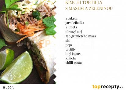 Kimchi tortilly smasem a zeleninou