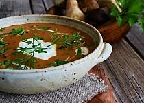 Maďarská houbová polévka