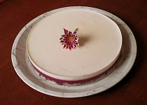 Nepečený dort z jogurtu a ostružin